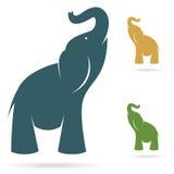 Vector beeld van een olifant stock illustratie