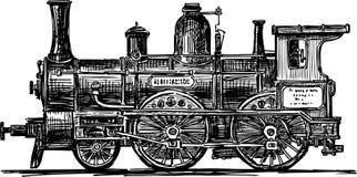 Locomotief royalty-vrije illustratie
