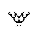 Vector beeld van een vlinder Twee het kussen gezichten Stock Afbeelding