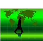 Vector beeld van het bedrijfsmens lopen Stock Foto's