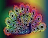 Vector beeld van pauw Royalty-vrije Stock Foto