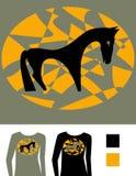 Vector beeld voor T-shirt royalty-vrije illustratie