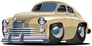 Vector beeldverhaal retro auto Stock Foto's
