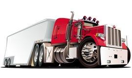 Vector beeldverhaal semi vrachtwagen Royalty-vrije Stock Fotografie