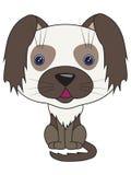 Vector beeldverhaal - zittingshond Royalty-vrije Stock Afbeeldingen