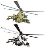 Vector beeldverhaalhelikopter Royalty-vrije Stock Foto's