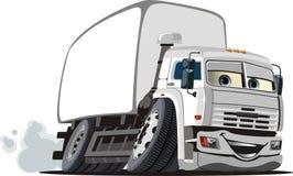 Vector beeldverhaallevering/ladingsvrachtwagen Royalty-vrije Stock Fotografie