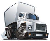 Vector beeldverhaallevering/ladingsvrachtwagen Royalty-vrije Stock Foto's