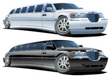 Vector beeldverhaallimousines royalty-vrije illustratie