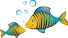 Vector beeldverhaalvissen Stock Foto
