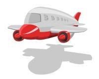 Vector beeldverhaalvliegtuig Stock Afbeeldingen