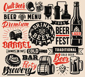 Vector beer badges royalty free illustration