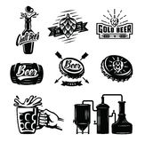 Vector beer badges Stock Images