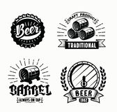 Vector beer badges Royalty Free Stock Photos