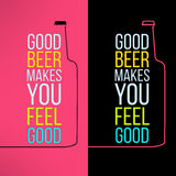 Vector beer bottle design background with a cool Stock Image