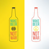 Vector beer bottle design background with a cool Royalty Free Stock Photography