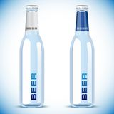 Vector beer bottle on white background Royalty Free Stock Photography