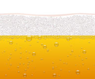Vector beer horizontal seamless pattern. Stock Images