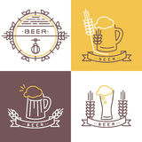 Vector beer icon and banner Royalty Free Stock Images