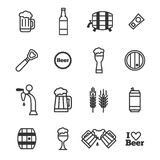 Vector beer icons. Royalty Free Stock Photography