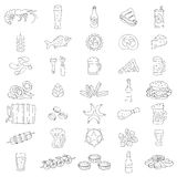 Vector beer icons. Stock Photo