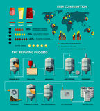 Vector beer infographic Royalty Free Stock Photos