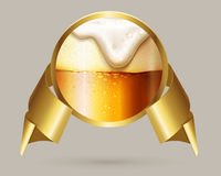 Vector Beer label. Royalty Free Stock Photos