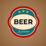 Vector beer label Royalty Free Stock Photo