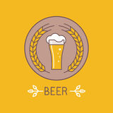 Vector beer logo and sign Royalty Free Stock Photography