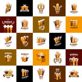 Vector beer logo Royalty Free Stock Photography