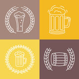 Vector beer logos and signs Royalty Free Stock Images