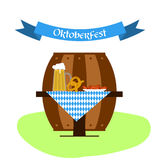Vector beer, pretzel and sausages for oktoberfest design. Royalty Free Stock Images