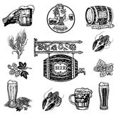 Vector Beer set Royalty Free Stock Photography