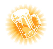 Vector. Beer tankard Royalty Free Stock Photography