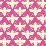 Vector Bees Shapes in Retro Colors seamless pattern background. vector illustration