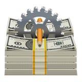 Vector Beginnend Kapitaalconcept Stock Foto's