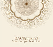 Vector beige background with ornament Royalty Free Stock Image