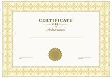 Vector beige certificate Stock Image