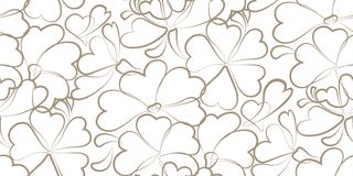 Vector beige floral background. Stock Photo