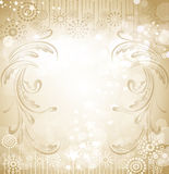Vector beige holiday background Stock Photography