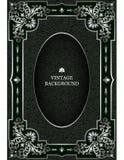 Vector a beira luxuosa do vintage no estilo barroco com quadro floral de prata do teste padrão Modelo para as capas do livro, pág ilustração do vetor