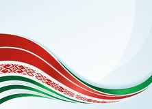 Vector belarus flag design with line and ornament Stock Photos