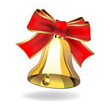 Vector bell with ribbon Royalty Free Stock Photo