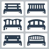 Vector benches icons set Royalty Free Stock Photo