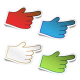 Vector bend stickers of hand Stock Image