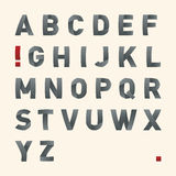 Vector bended font - Alphabet Royalty Free Stock Images