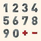 Vector bended font - Numbers Royalty Free Stock Photography