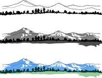 Vector bergenlandschap royalty-vrije stock afbeelding