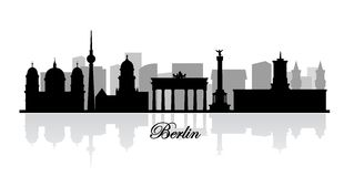 Vector berlin skyline silhouette Stock Photo