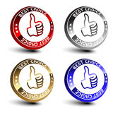 Vector best choice 3D circular buttons. Best choice 3D circular buttons - vector illustration Royalty Free Stock Photo